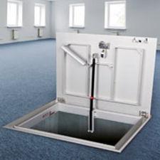 botola per pavimento / par pavimento piastrellato / quadrata / rettangolare