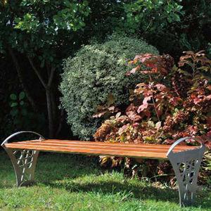 panca pubblica / moderna / in legno esotico / in pino