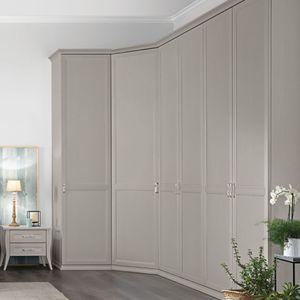 armadio ad angolo / classico / in legno laccato / con ante battenti