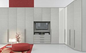 armadio ad angolo / moderno / in legno laccato / con ante battenti