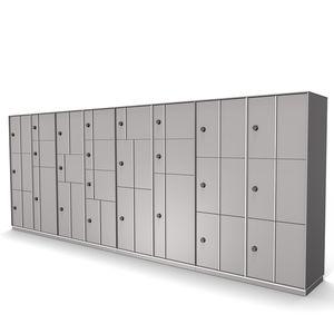 armadietto spogliatoio in acciaio / RFID / per stoccaggio