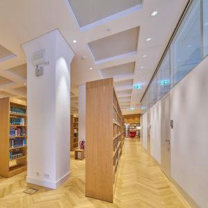 parete fissa / in vetro / in alluminio / per open space
