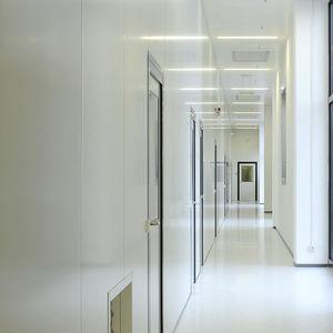 parete fissa / in laminato / in acciaio / per camera bianca
