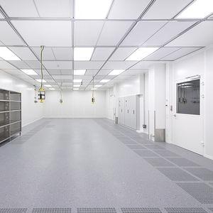 pavimento sopraelevato in alluminio / ignifugo / da interno / per camera bianca
