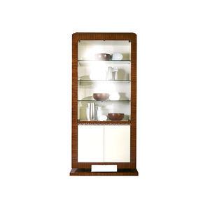 credenza con alzata classica / in legno / in vetro