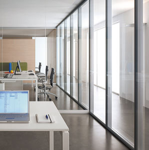 parete fissa / in alluminio / vetrata / ad uso professionale
