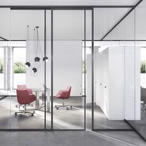 parete fissa / vetrata / in alluminio / ad uso professionale