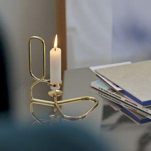 portacandela in ottone / in acciaio con rivestimento a polvere