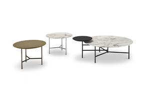 tavolino basso in pelle