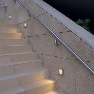 luce da incasso a muro / LED / fluorescente compatta / quadrata