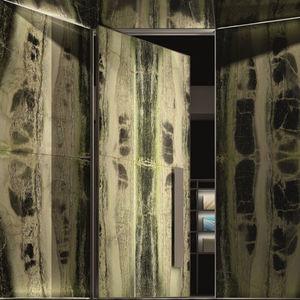 porta d'ingresso / a bilico / in marmo / blindata