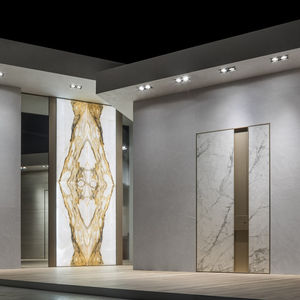 porta d'ingresso / a bilico / in ceramica / alluminio
