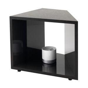tavolo d'appoggio moderno / impiallacciato in legno / in laminato / con supporto in legno