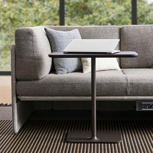 tavolo d'appoggio moderno / in laminato / con supporto in acciaio verniciato / rettangolare