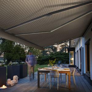 tessuto per protezione solare / a motivi / in acrilico / impermeabile