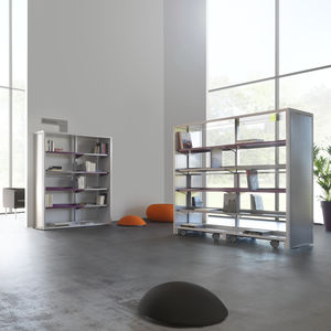 scaffalatura mobile contract / manuale / ad alta densità / in metallo