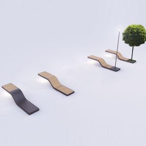 panca per spazi pubblici design minimalista