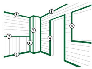 profilato per porte in PVC