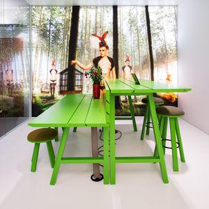 tavolo da picnic moderno / in legno / rettangolare / contract