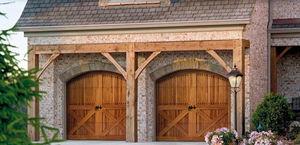 porte battenti per garage / in legno / manuali