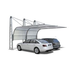 tettoia per posto-auto in acciaio galvanizzato / in policarbonato / per parcheggio