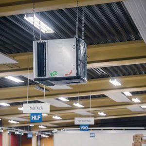 purificatore d'aria elettrostatico / a soffitto / industriale / di risanamento