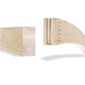 trave portante / in legno lamellare / rettangolare / di grande luce