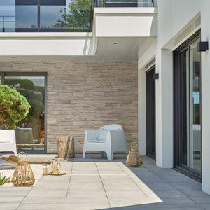 lastra di paramento in pietra ricostituita / per esterni / indoor / testurizzata