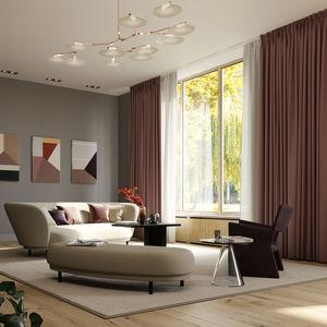 binario per tende per installazioni a soffitto
