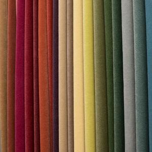 tessuto per tende / a tinta unita / poliestere FR / in velluto
