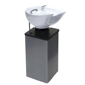 lavabo da terra / in ceramica / in metallo / moderno