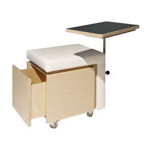 tavolo manicure con vano contenitore