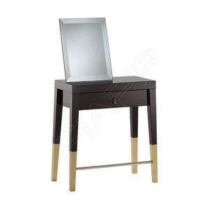 mobile da toeletta moderno / in vetro / in legno / per parrucchiere