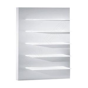 espositore da parete / per prodotti di bellezza / in legno / per negozio