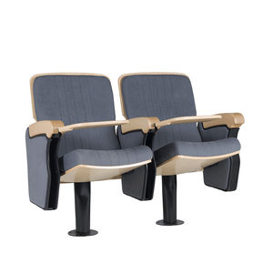 poltrona per auditorium moderna / in tessuto / in legno / pieghevole