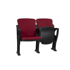 poltrona per auditorium moderna / in fibra di vetro / in polipropilene / in tessuto