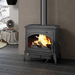 stufa a legna / multicombustibile / a carbonella / in ghisa