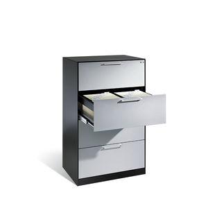 armadio classificatore basso / impiallacciato in legno / in acciaio / in vetro