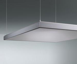 pannello acustico per soffitto / in alluminio / liscio / contract