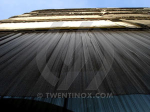 rivestimento di facciata in griglia