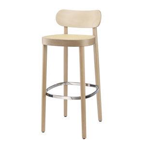 sedia alta moderna / imbottita / con poggiapiedi / piedi standard