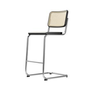 sedia alta moderna / cantilever / in rete / in pelle