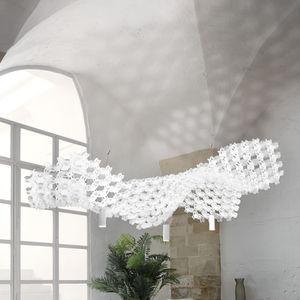 lampada a sospensione / design originale / in acciaio / in Opalflex®