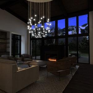 lampadario classico / in vetro soffiato / in porcellana di Limoges / LED