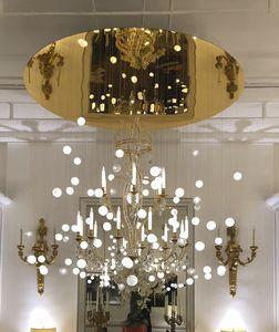lampadario moderno / in cristallo / in vetro soffiato / in acciaio
