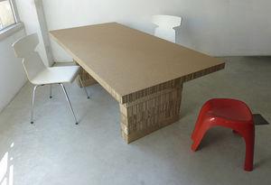 tavolo moderno / in cartone / rettangolare