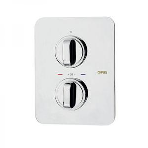miscelatore doppio comando per doccia / da incasso / in metallo cromato / termostatico