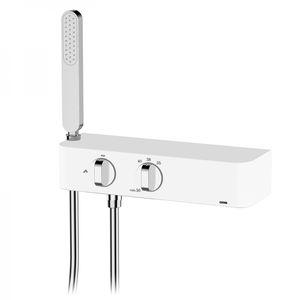 miscelatore doppio comando da doccia / da parete / in metallo cromato / termostatico