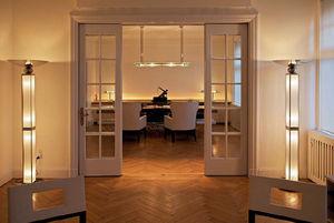 colonna luminosa Art Deco / in vetro