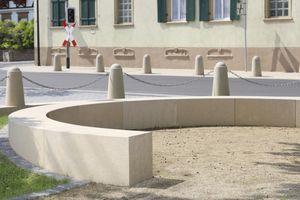 panca da giardino / pubblica / moderna / in calcestruzzo